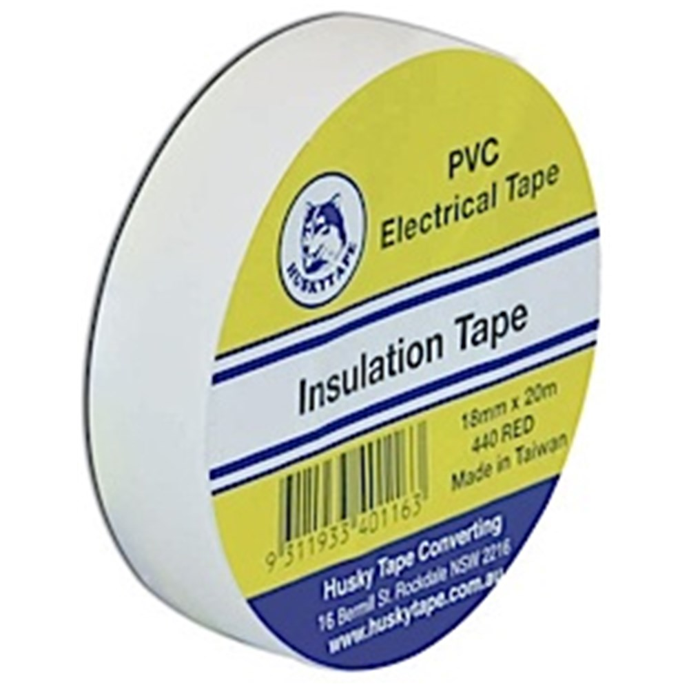 Electrical Tape - White 18mm x 20m