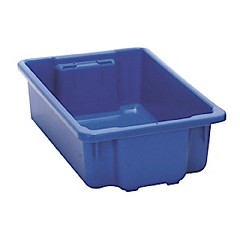 Heavy Duty Plastic Crate - Blue - 32 litre