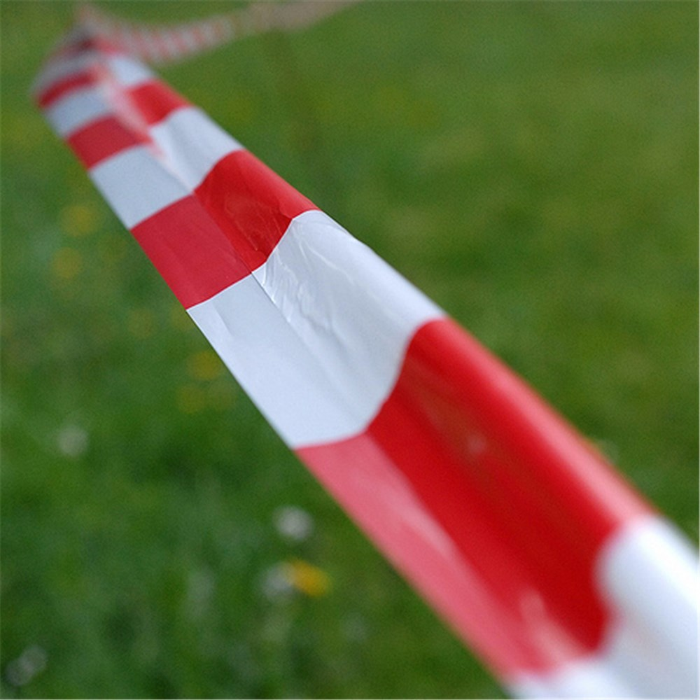 Barrier Tape - Red/White 75mm x 100m
