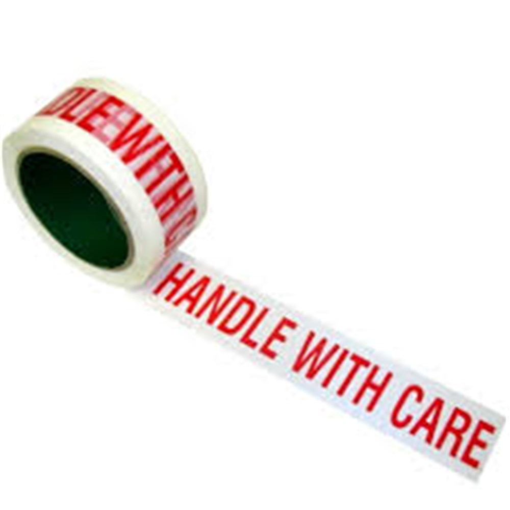 Warning Tape - Handle With Care 50mm x 100m